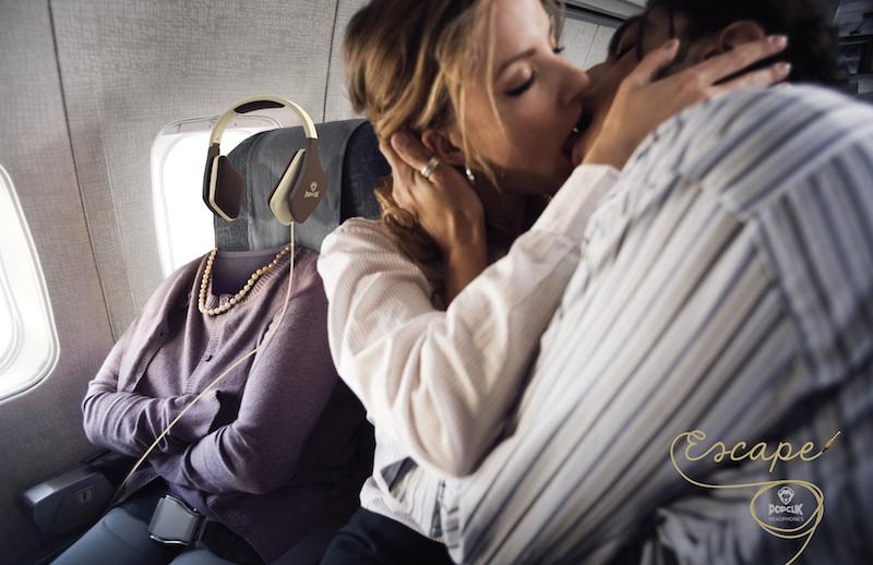 Airplane Passenger Annoyed by Kissing Neighbors