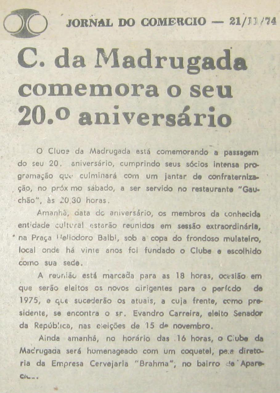 Jornal do Commercio de  21