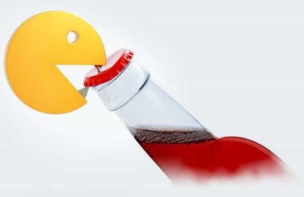Abridor de garrafa Pac Man