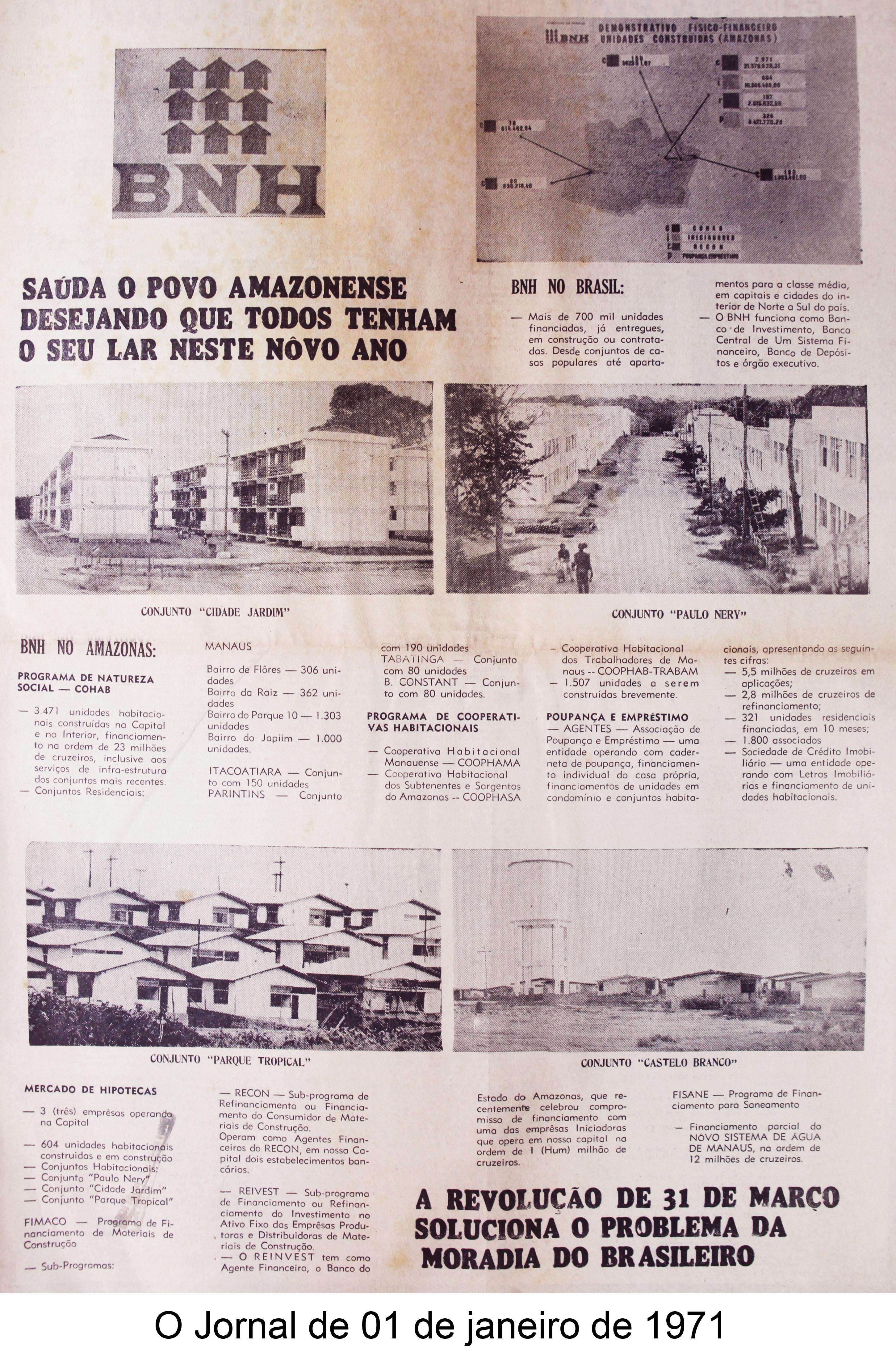 O Jornal de 01 de janeiro de 1971