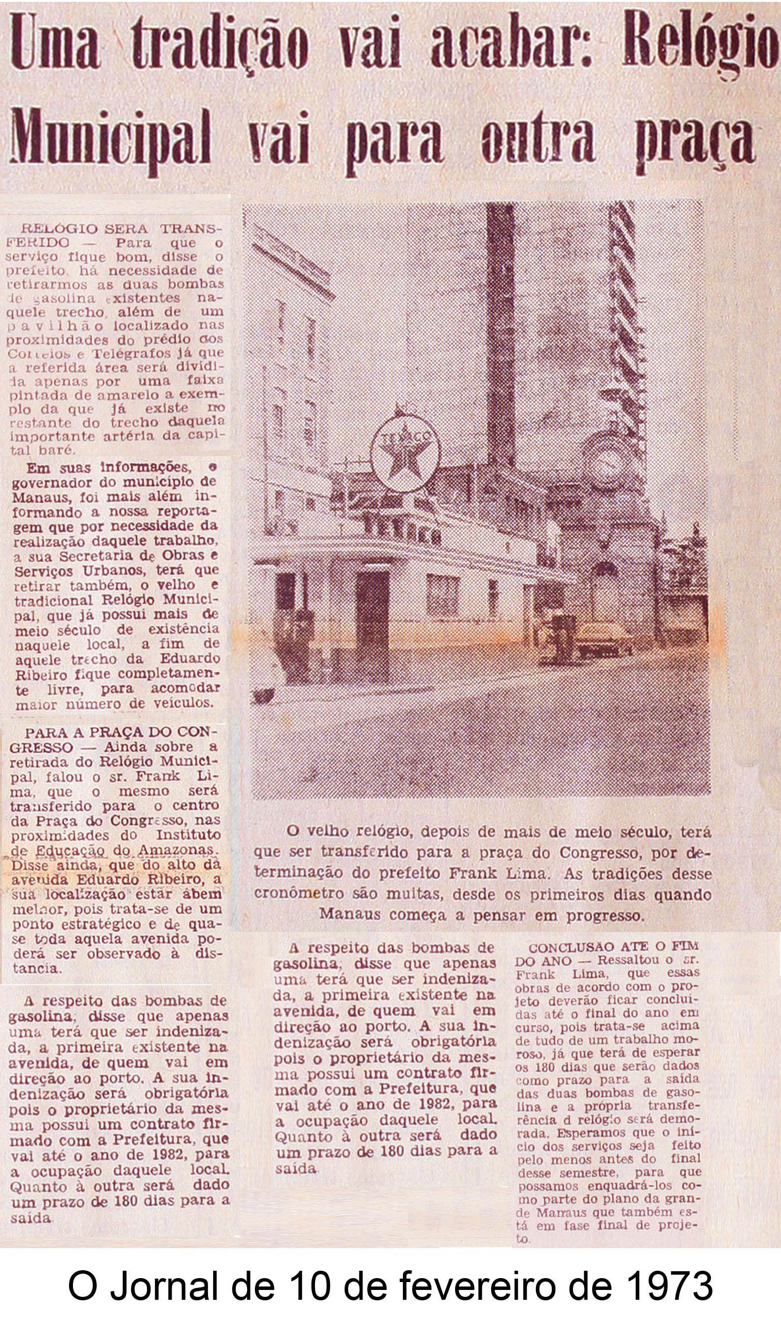 O Jornal de 10 de fevereiro de 1973