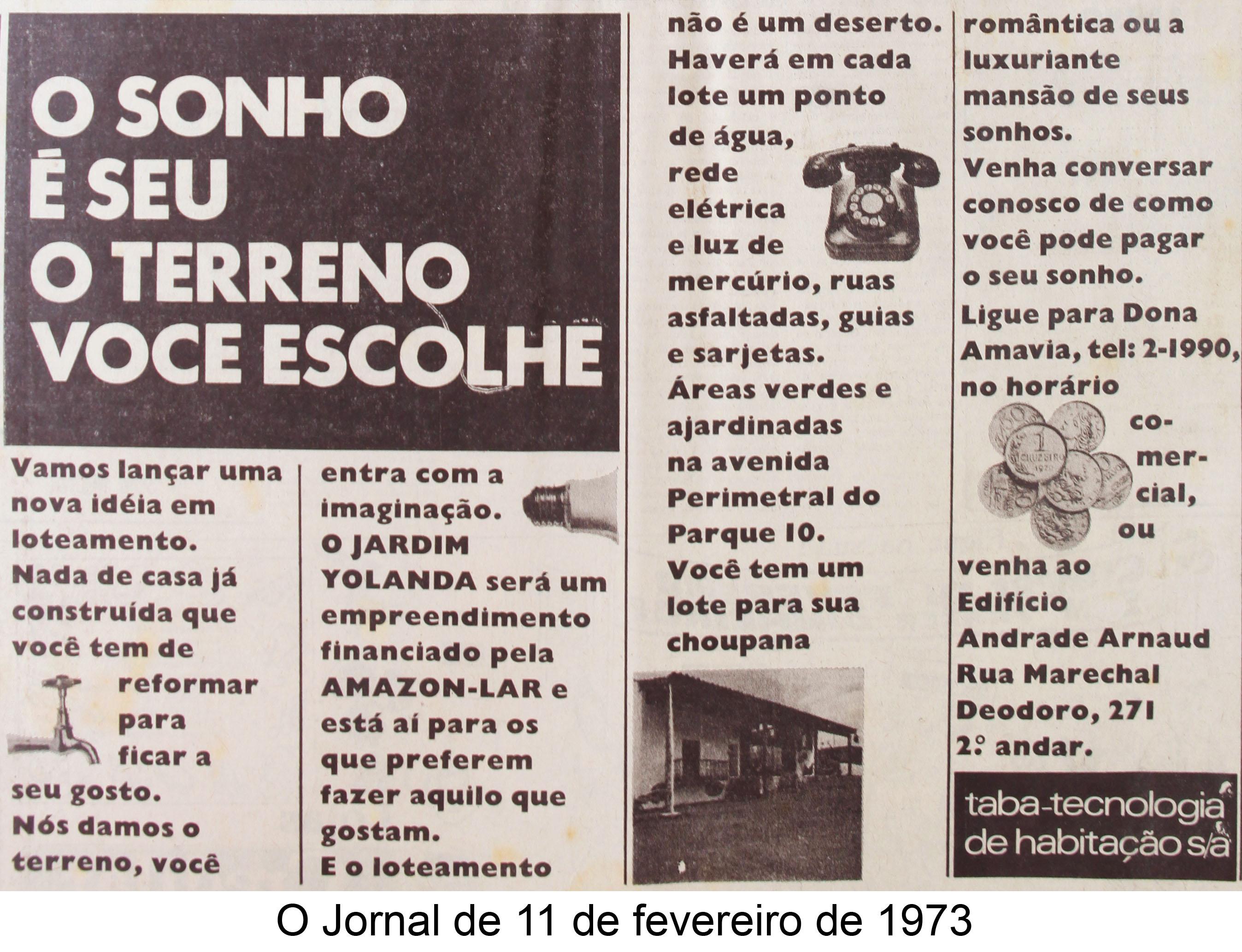 O Jornal de 11 de fevereiro de 1973
