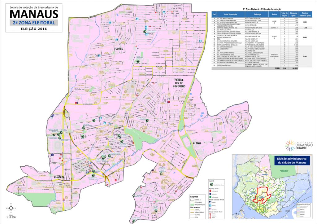 mapa-manaus-2a-zona-eleitoral-2016