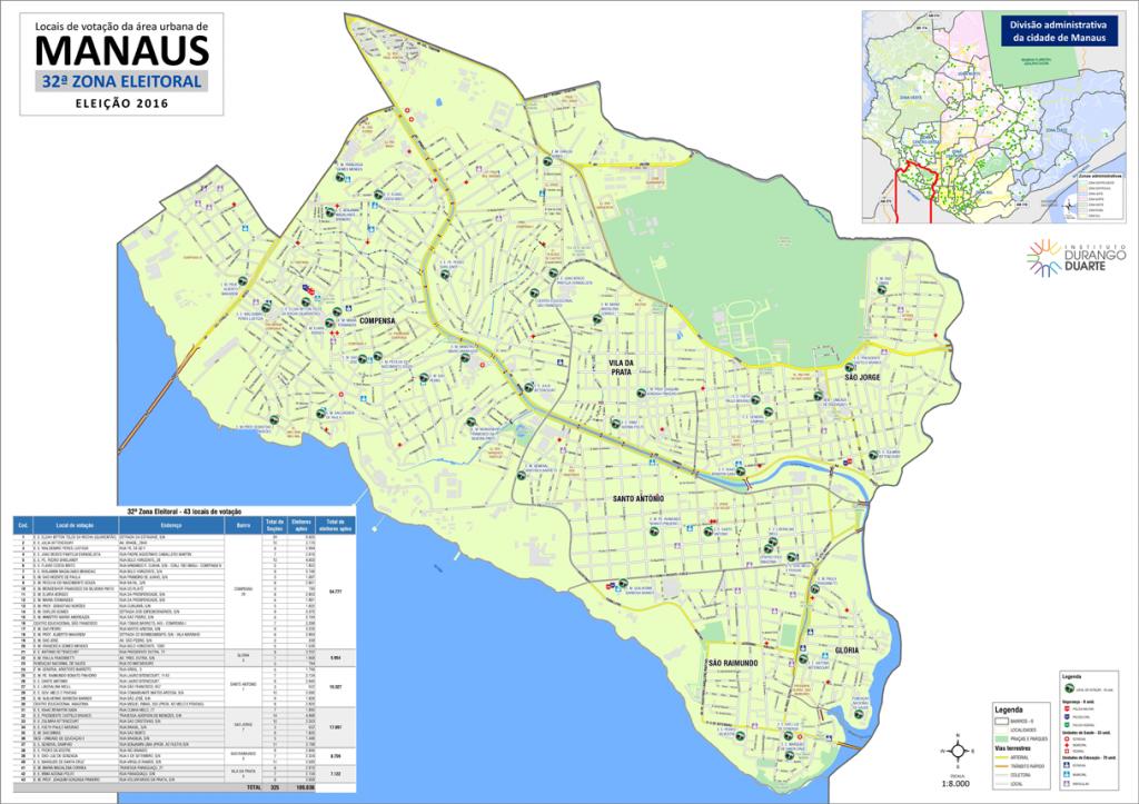mapa-manaus-32a-zona-eleitoral-2016