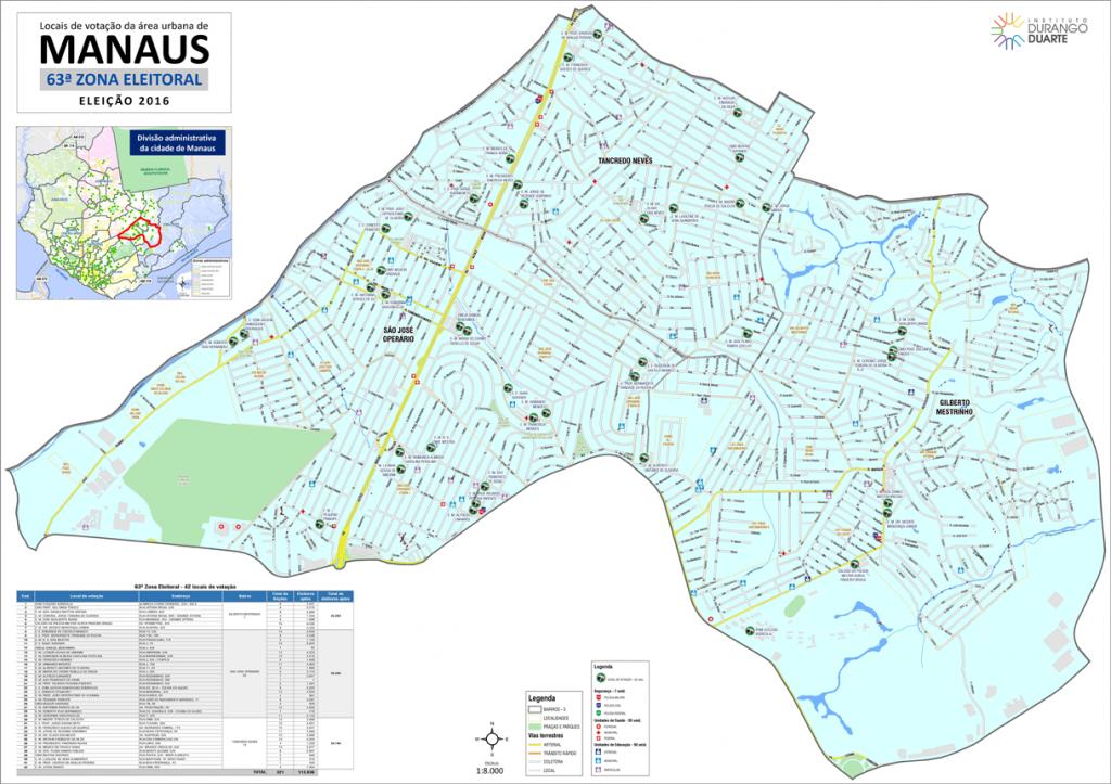 mapa-manaus-63a-zona-eleitoral-2016