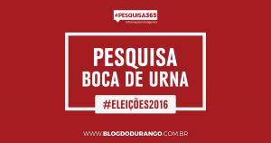 Durango Duarte - Pesquisa de boca de urna da #PESQUISA365
